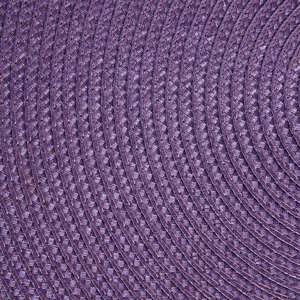 DII Eggplant Round Polypropylene Woven Placemat (Set of 6)