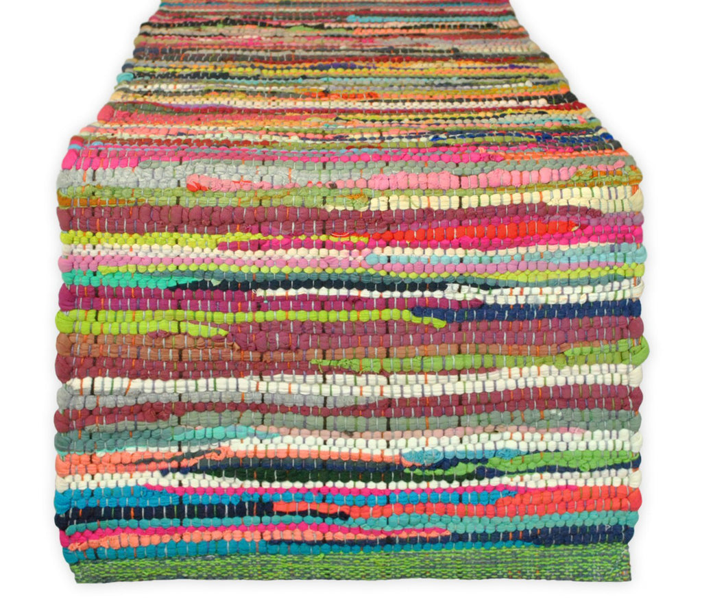 Multi Color Chindi Rag Table Runner 14x72