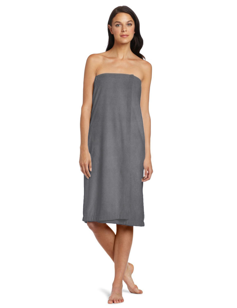 Gray Shower Wrap Womens