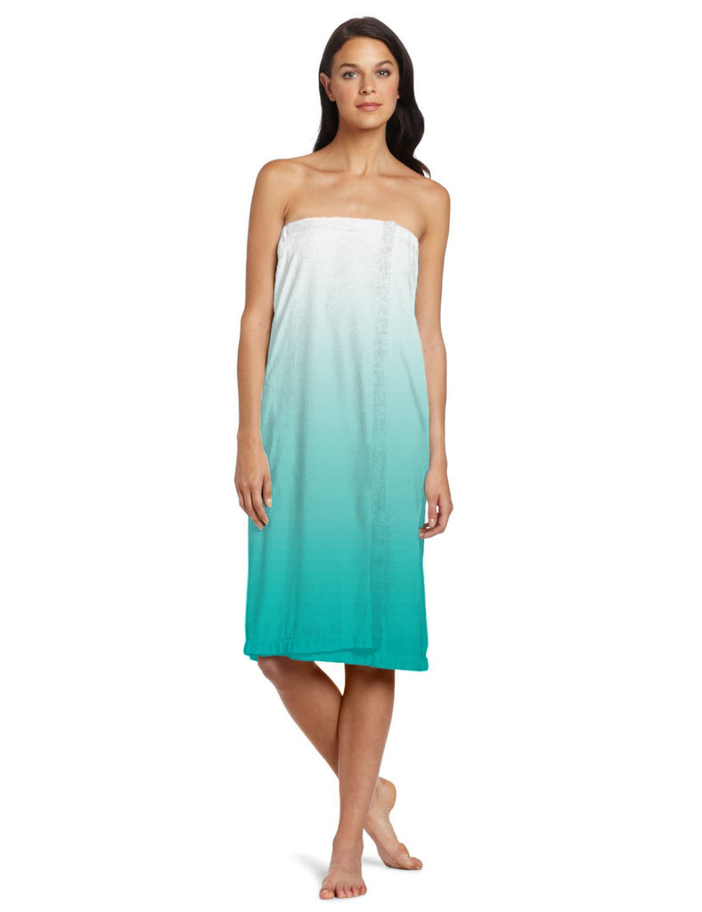 Teal Ombre Shower Wrap Womens