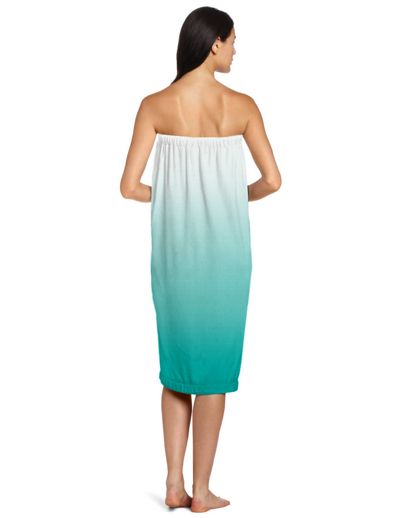 DII Teal Ombre Shower Wrap Womens