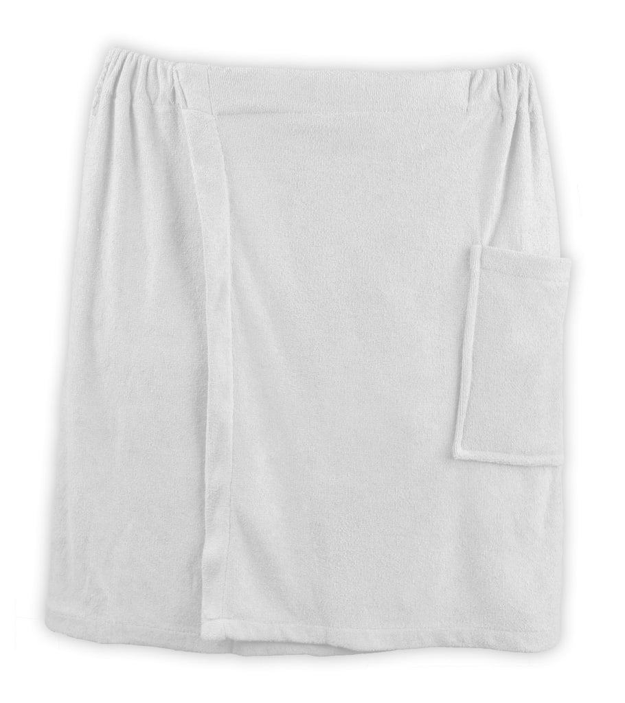 White Shower Wrap Mens