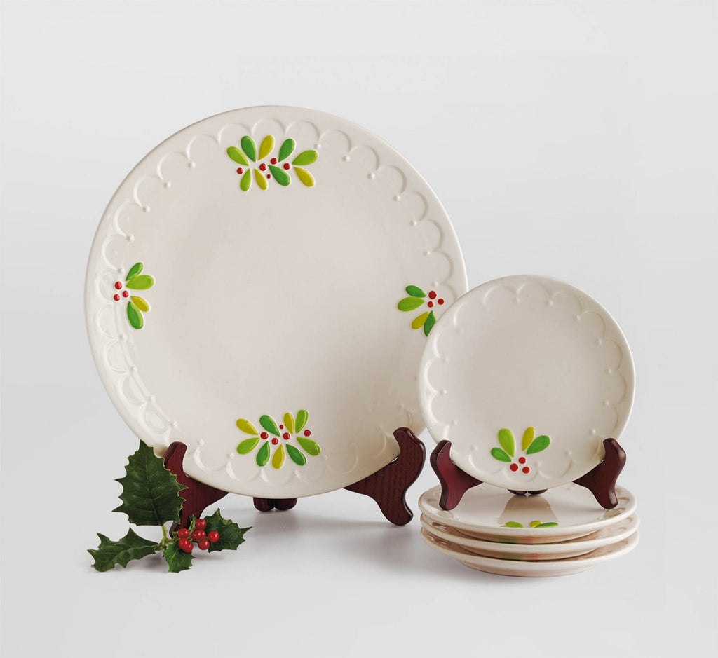 DII Platter Mistletoe Sprig (Set of 2)