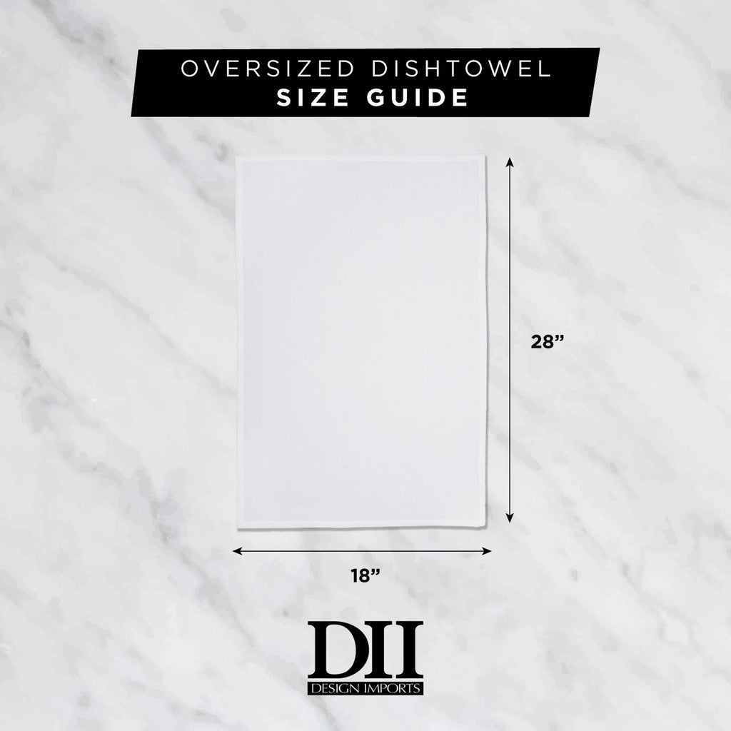 DII White Flat Woven Dishtowels (Set of 6)