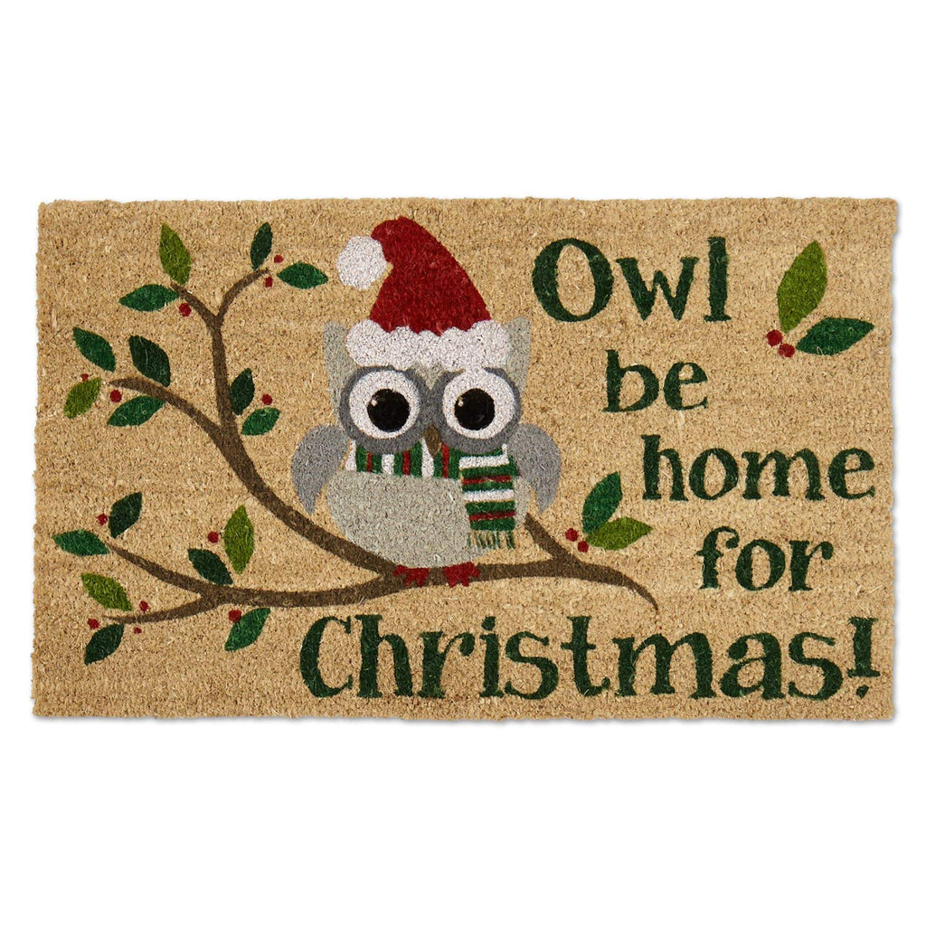 Owl Be Home For Xmas Doormat