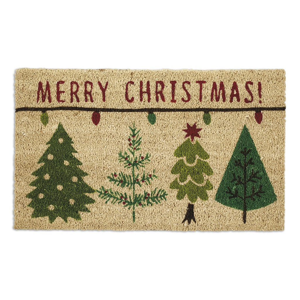 Merry Christmas Trees Doormat