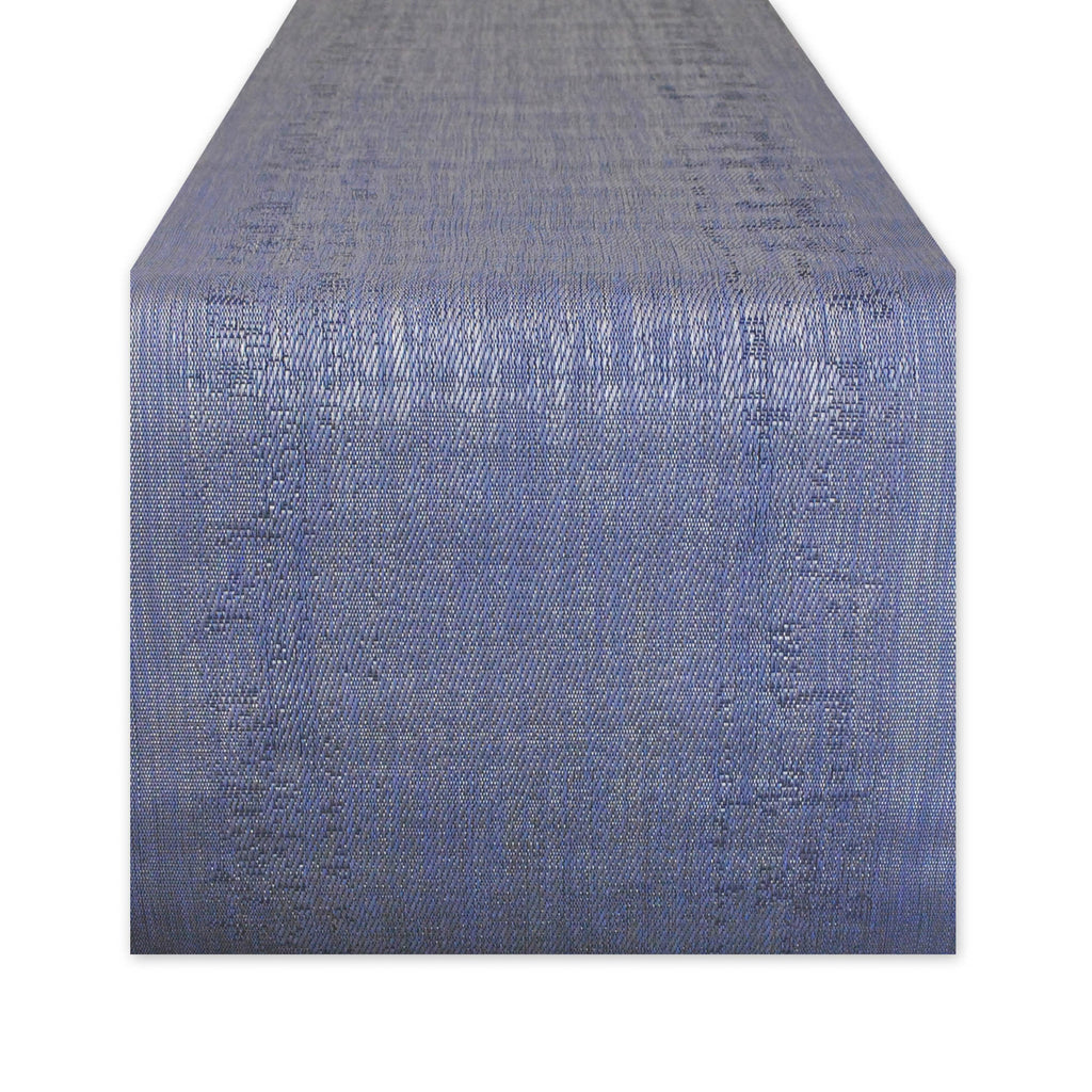 Space-Dyed Navy Pvc Table Runner 13x72