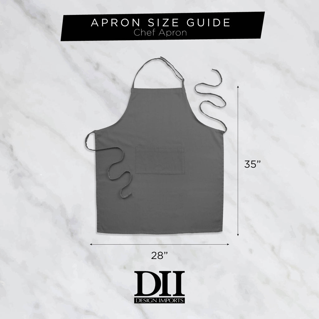 DII Nautical Blue Chevron Chef Apron