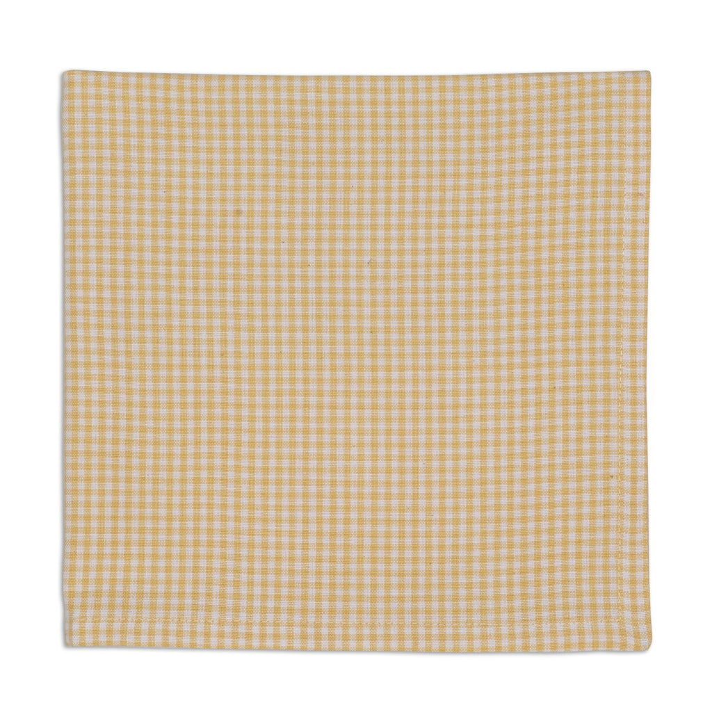 DII Yellow Small Check Napkin (Set of 6)