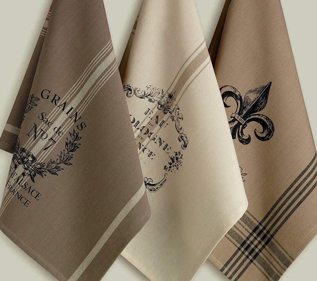 DII Assorted French Printed Dishtowel (Set of 3)