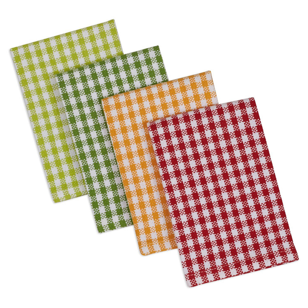 Pea Patch Check Heavyweight Dishcloth Set/4
