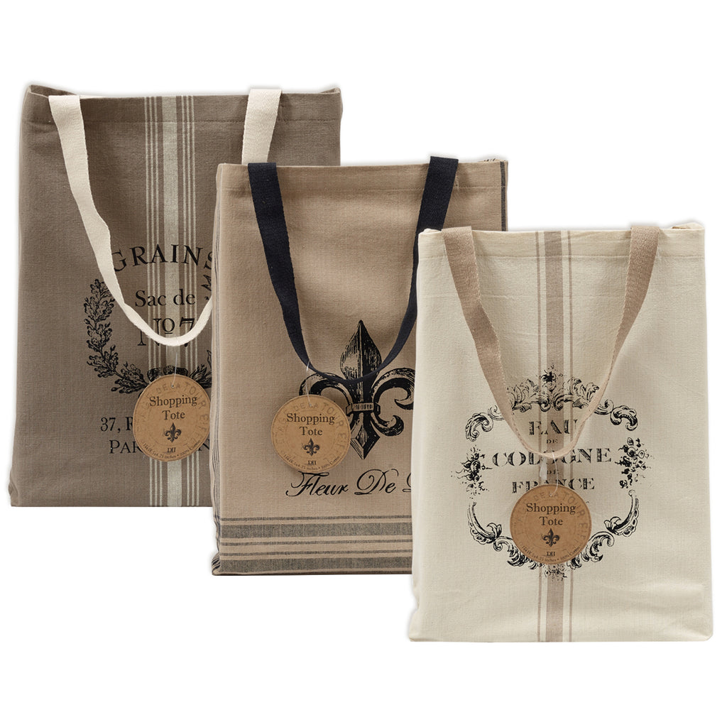 French Print Bags Set/3