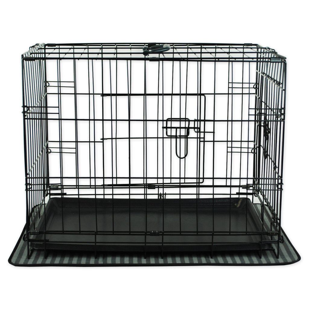 DII Xx-Large Gray Stripe Cage Mat