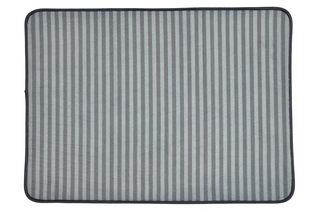 Xxx-Large Gray Striped Cage Mat