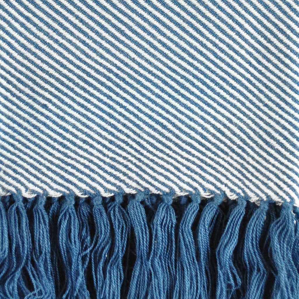 DII Throw Blue Luxury Chevron