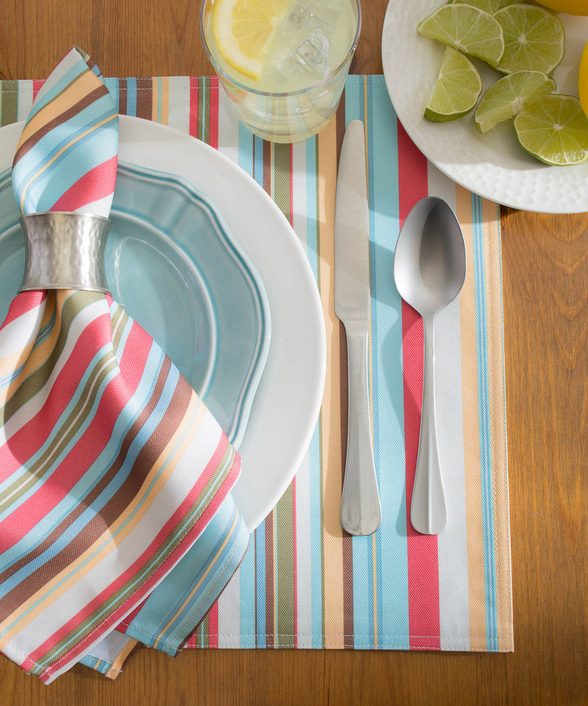 DII Summer Stripe Outdoor Placemat (Set of 6)