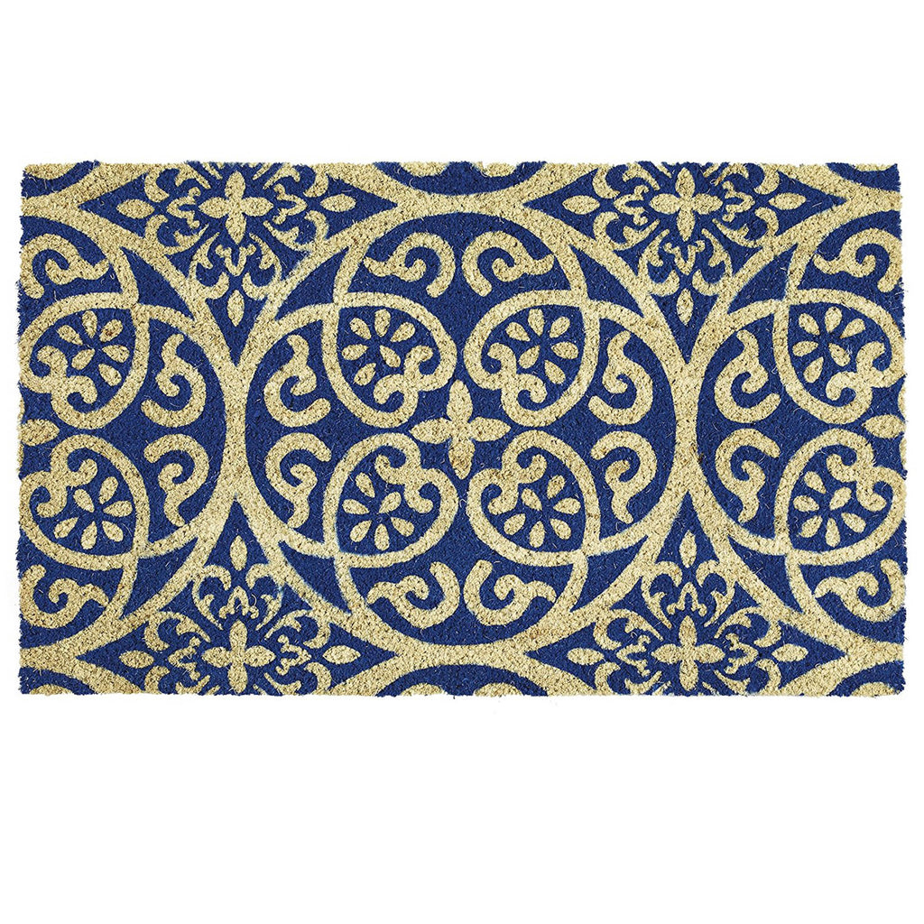 Blue Tunisia Scroll Doormat