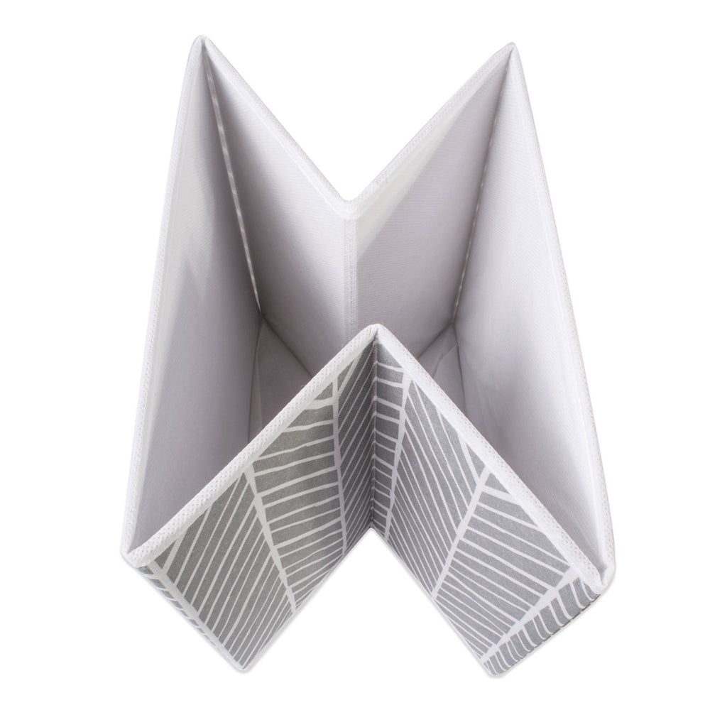 DII Nonwoven Polyester Cube Herringbone Gray Square (Set of 2)