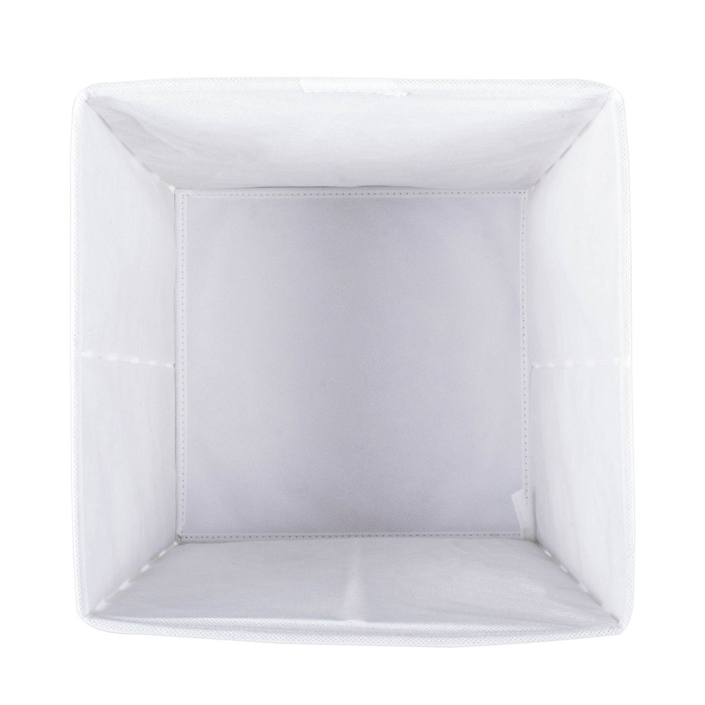 DII Nonwoven Polyester Cube Eggplant Scroll Square (Set of 2)