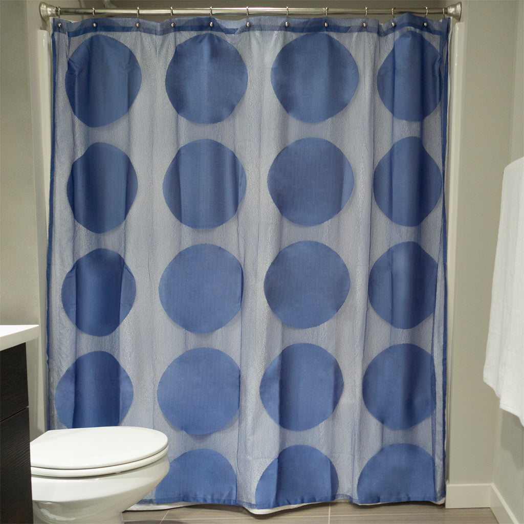 Blueberry Lace Circle Shower Curtain