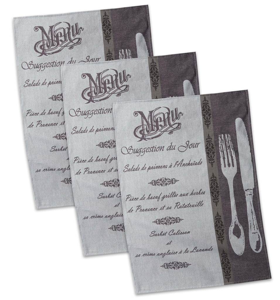 French Menu Jacquard Dt S/3