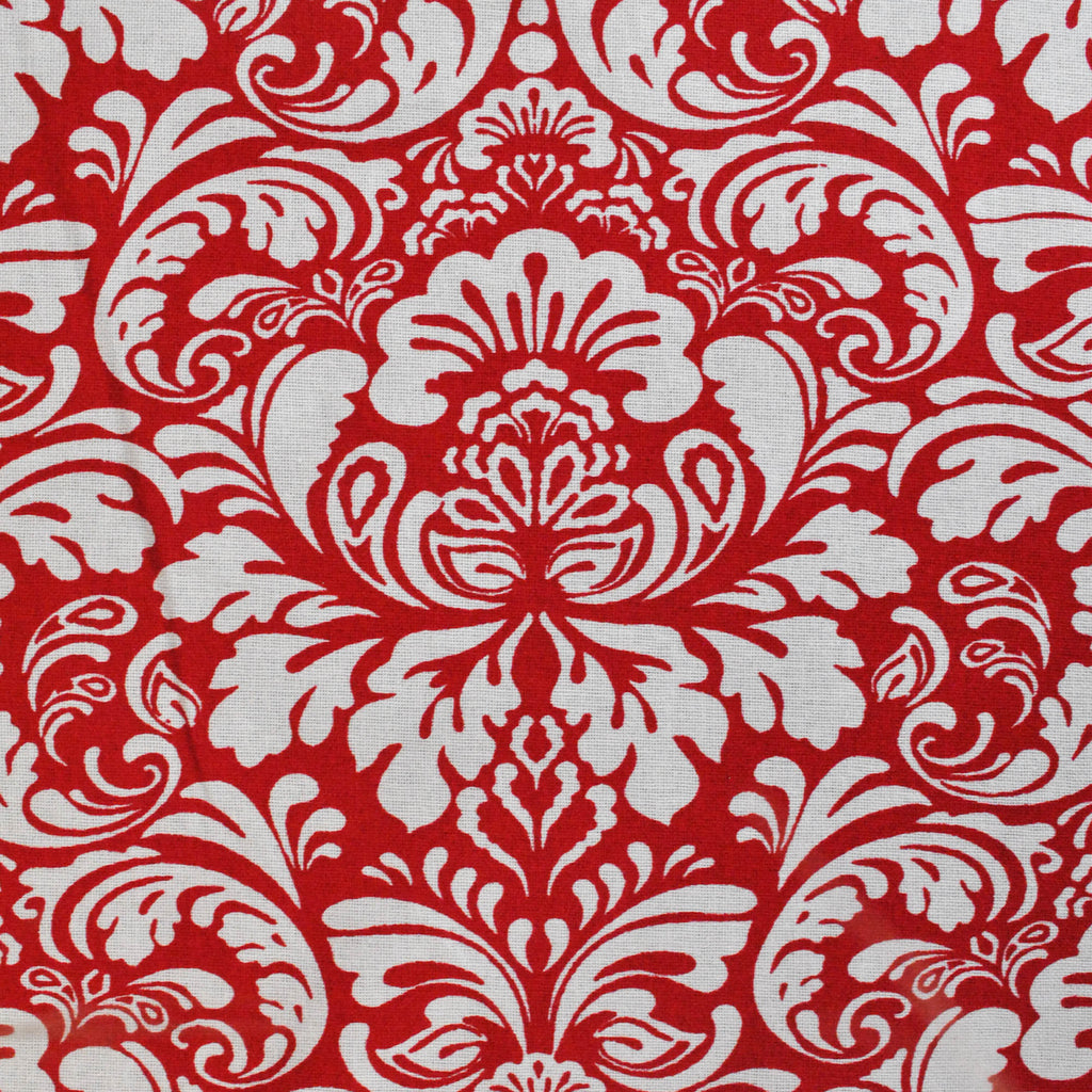 DII Damask Tango Red Tablecloth, 52x52""