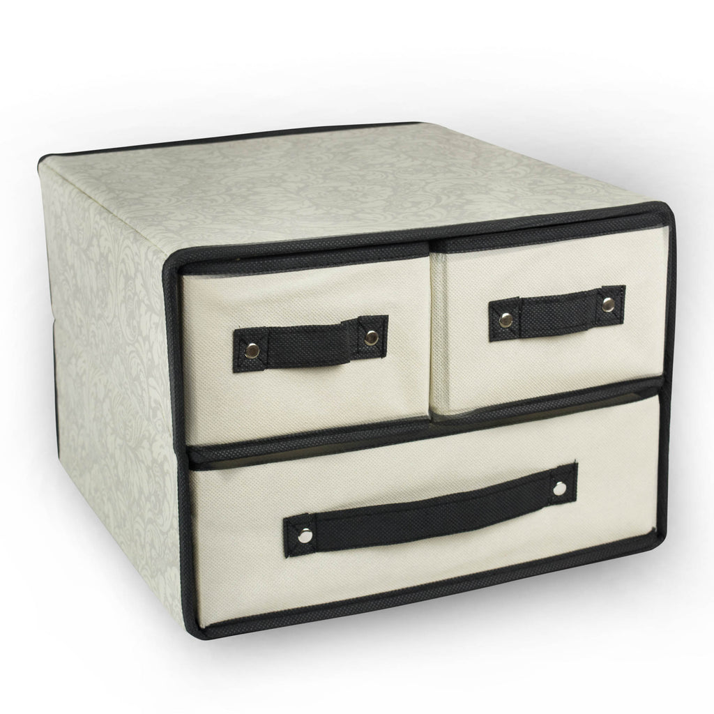 Storge Closet 3 Drawer Damask