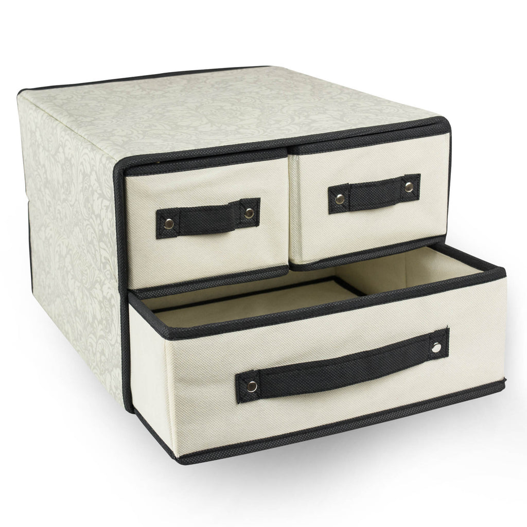 DII Storge Closet 3 Drawer Damask