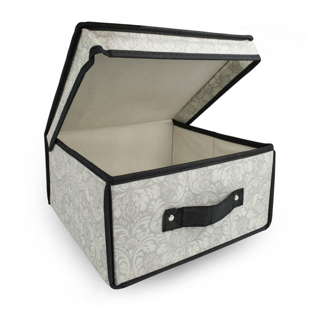 DII Storge Closet Flipped Lid Small (Set of 2) Damask