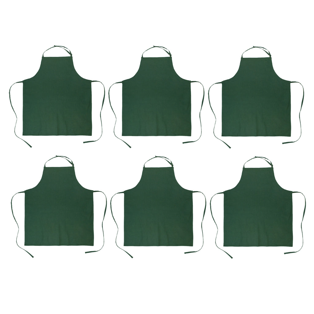 Dark Green Chef Apron Set/6