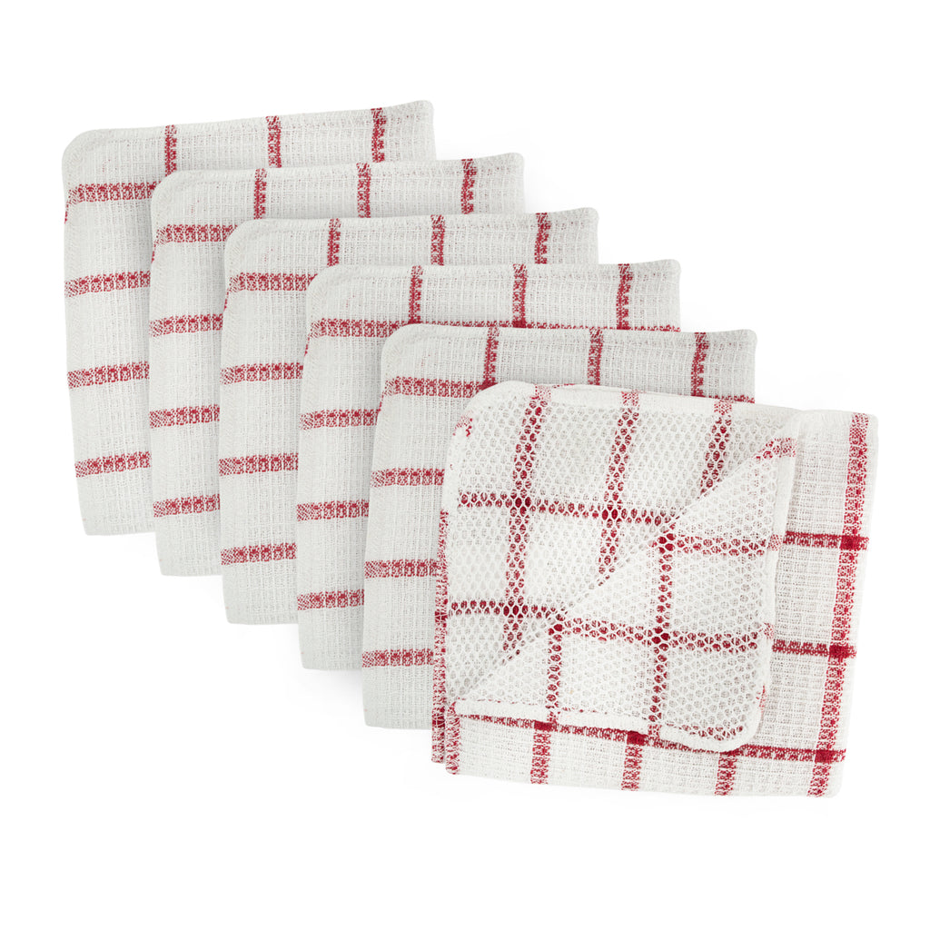 Red Scrubber Dishcloth Set/6