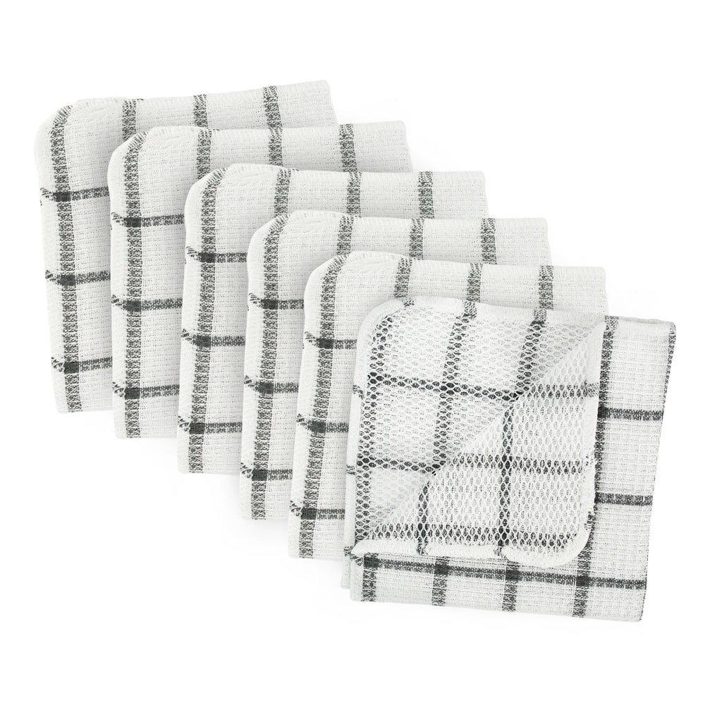 Gray Scrubber Dishcloth Set/6