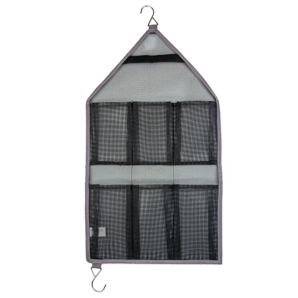 Bath Mesh Hang Orgnzr Gray