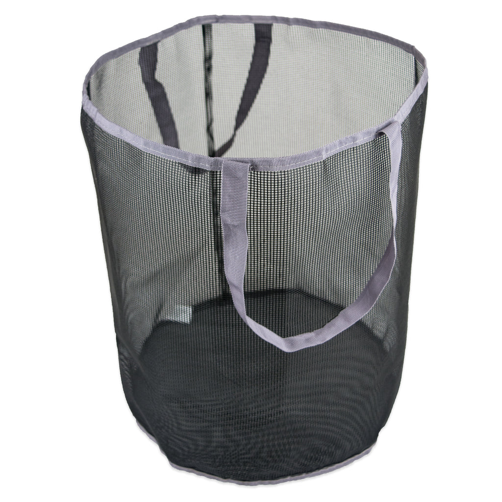 Bath Mesh Laundry Basket Gray