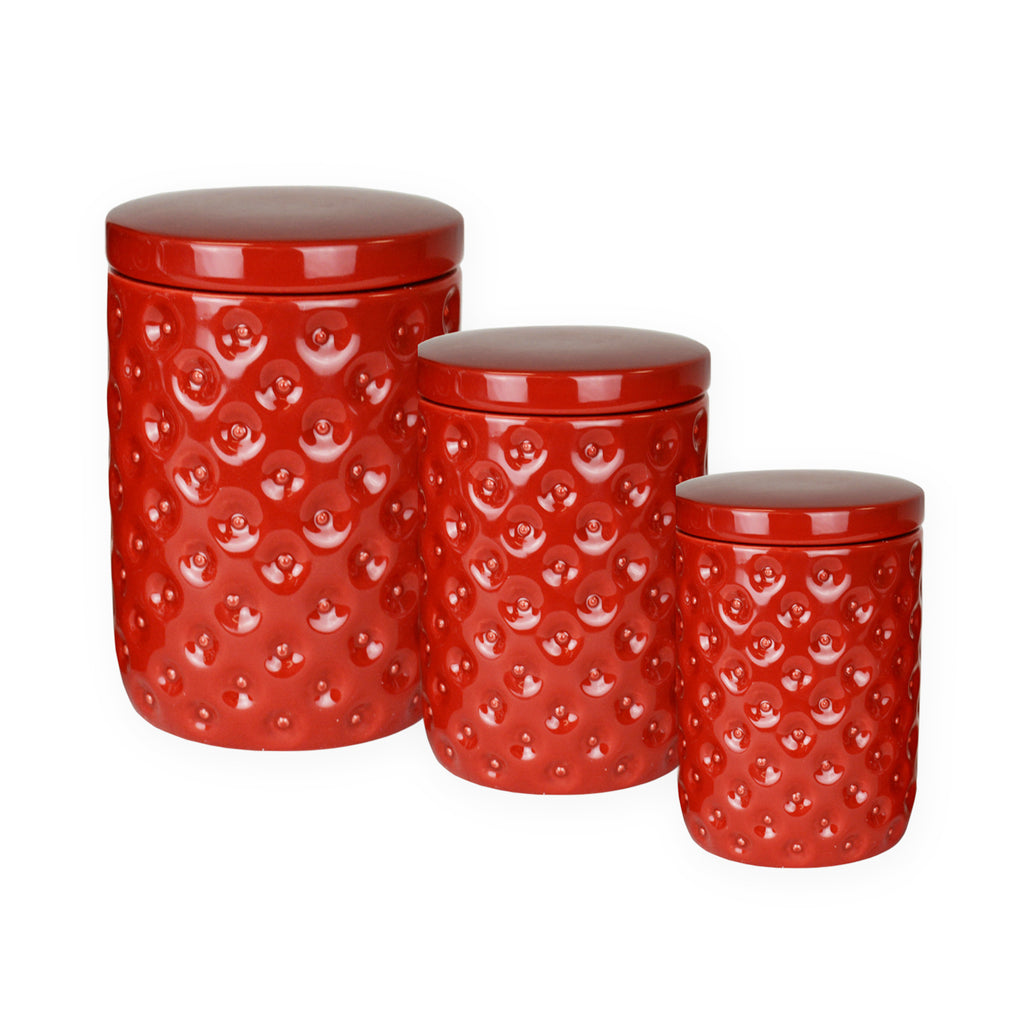 Ceramic Nested Canister S/3 Red