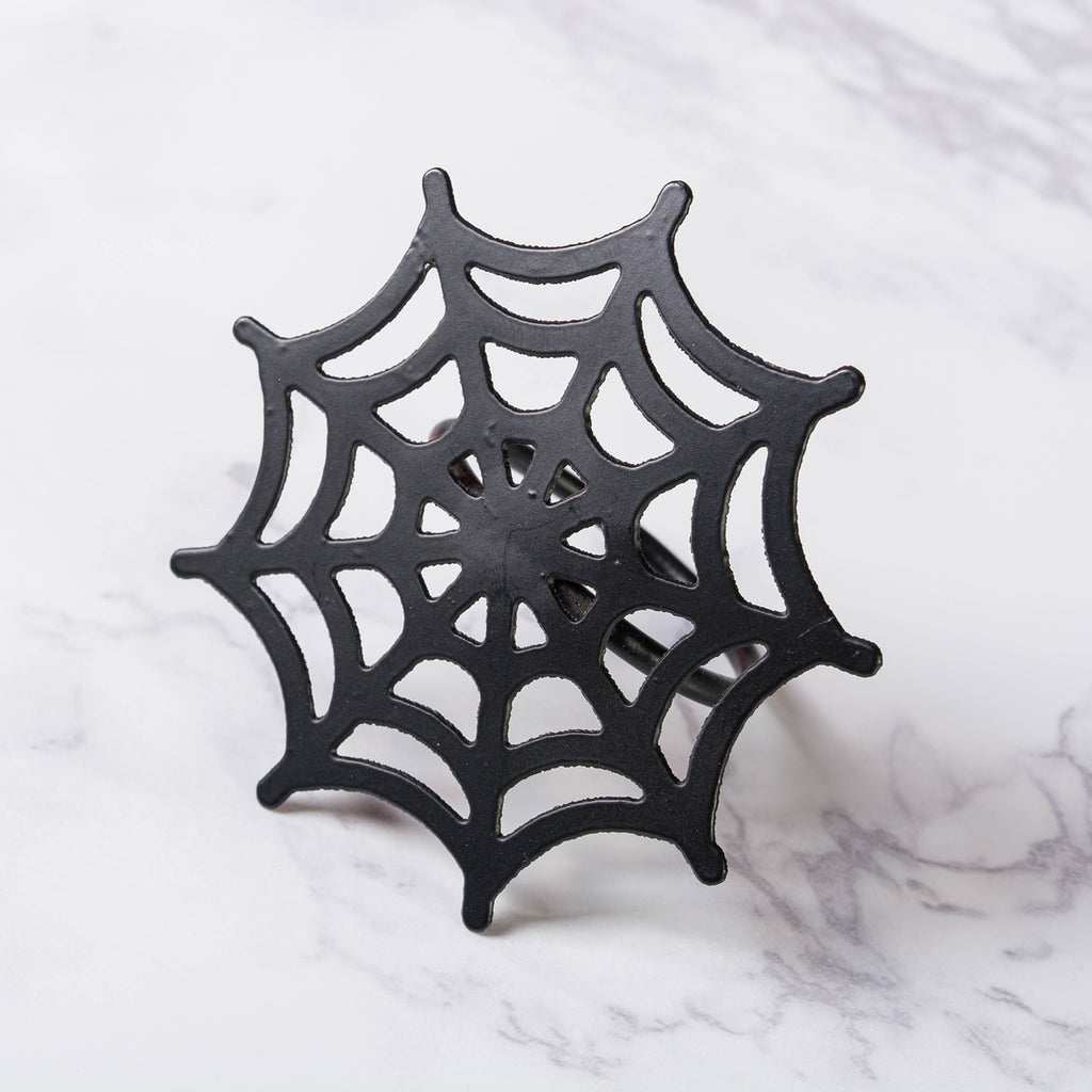 DII Black Spider Web Napkin Ring (Set of 6)