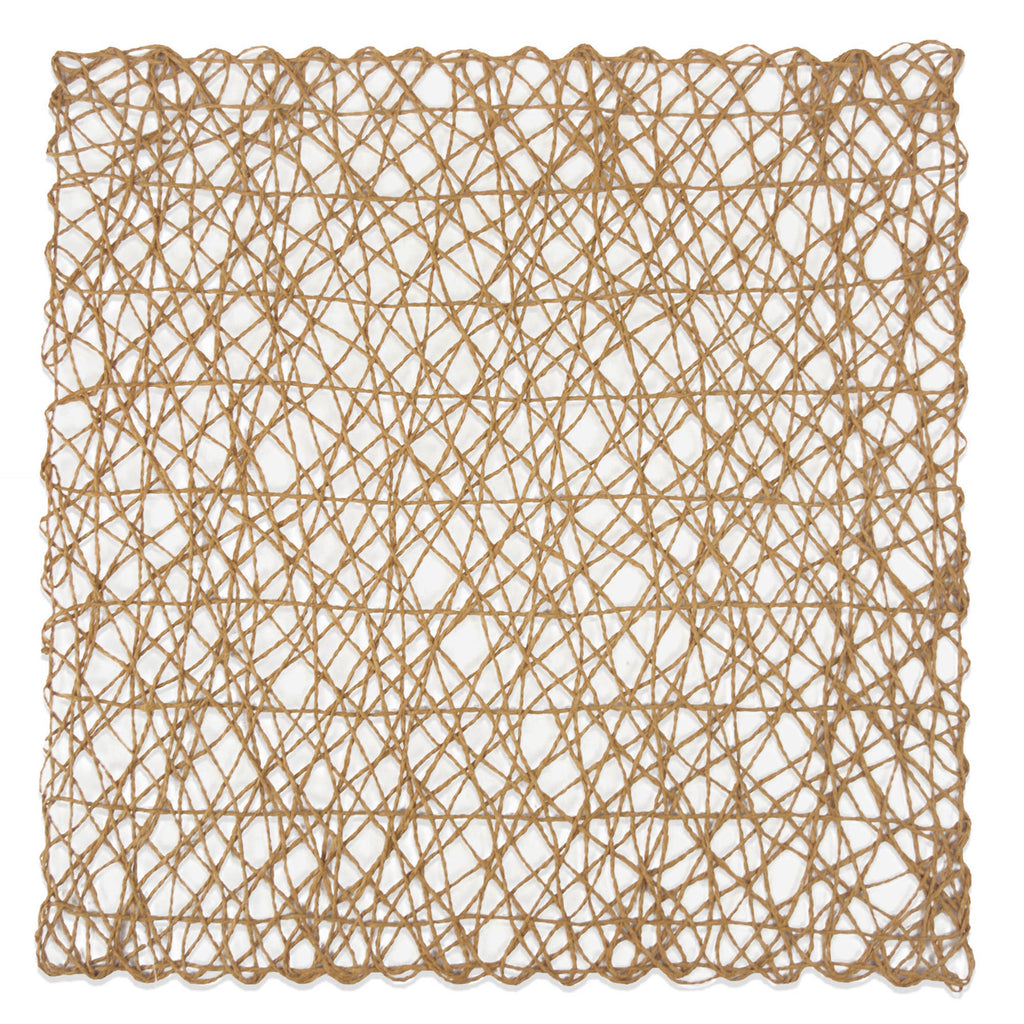 DII Taupe Woven Paper Square Placemat (Set of 6)