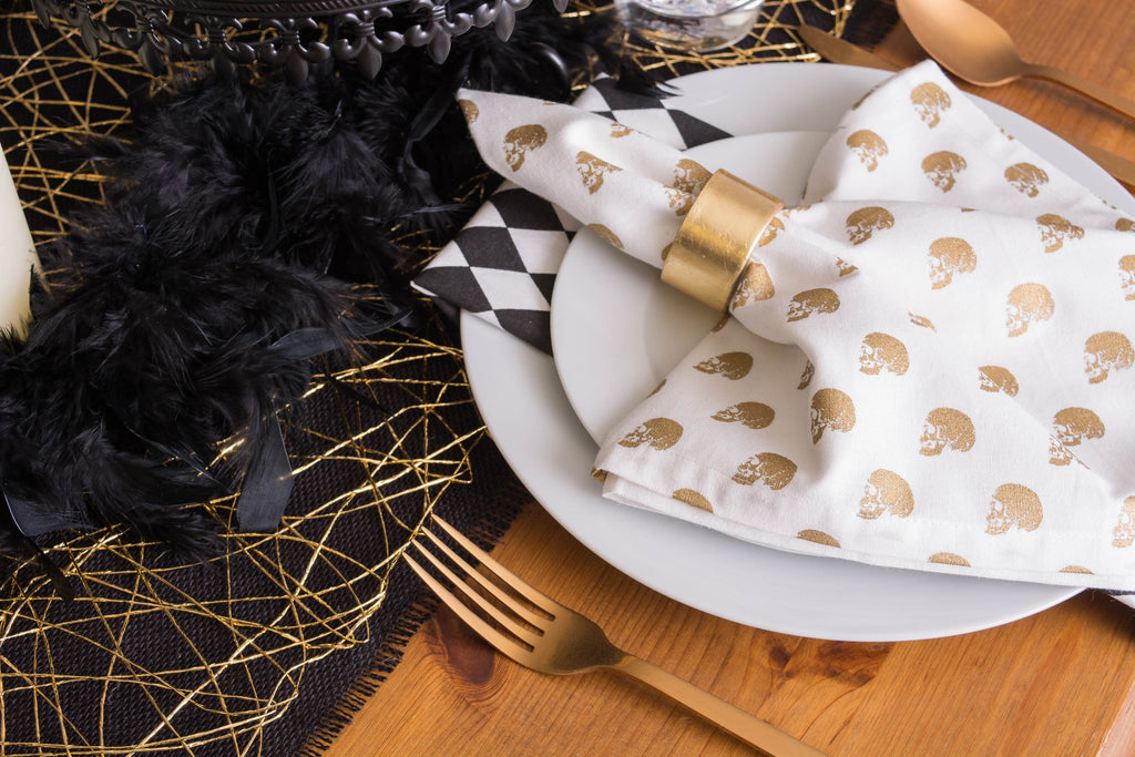 DII Gold Woven Paper Table Runner, 14x72""