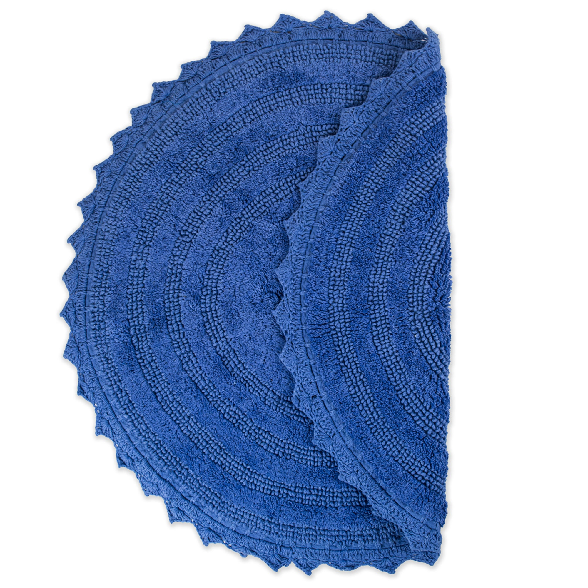 Dii Blueberry Round Crochet Bath Mat Dii Home Store