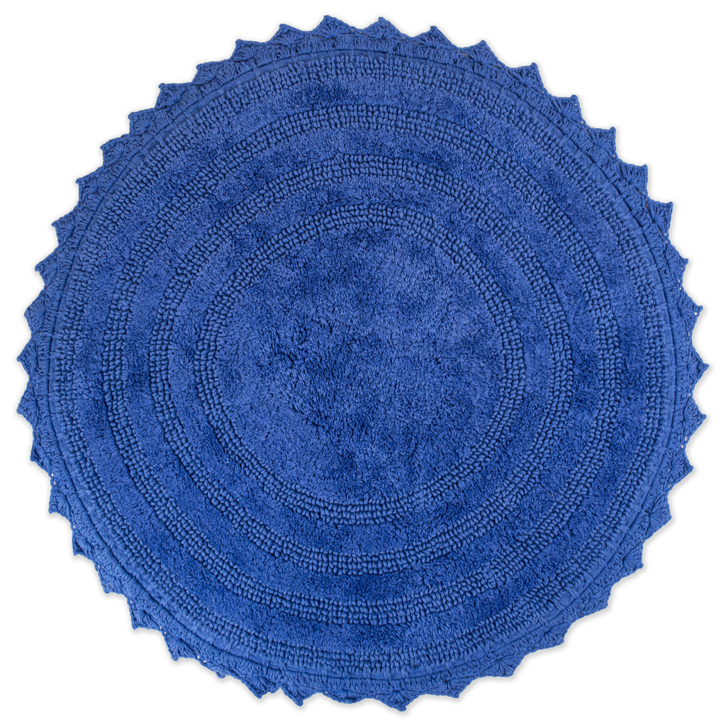 Blueberry Round Crochet Bath Mat