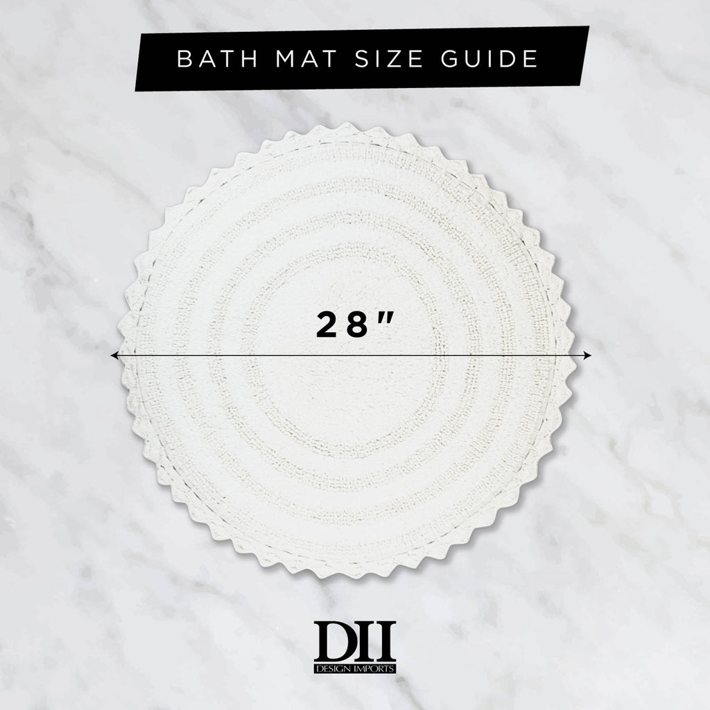 DII Yellow Round Crochet Bath Mat