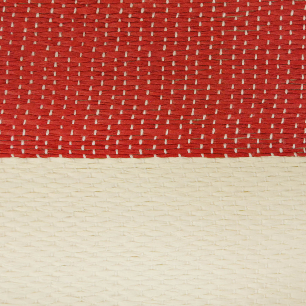 DII Paper Basket Stripe Tango Red Rectangle Large