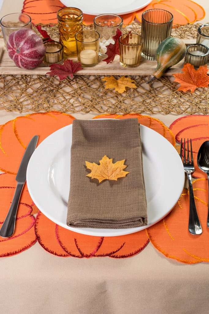 DII Placemat Embroidered Pumpkins (Set of 4)