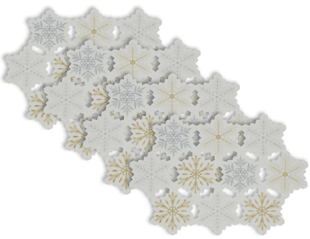 Embroidered Snowflake Placemat Set/4
