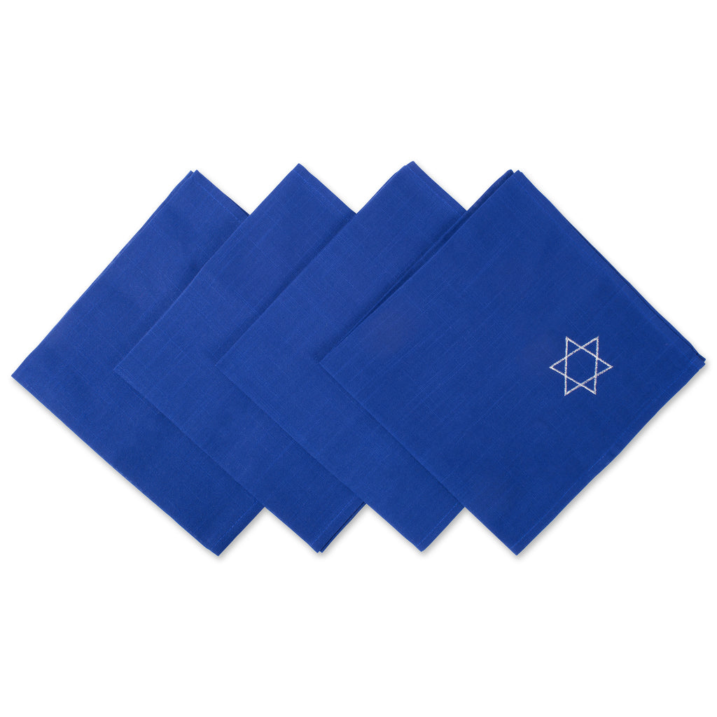 Napkin Emb Star David S/4