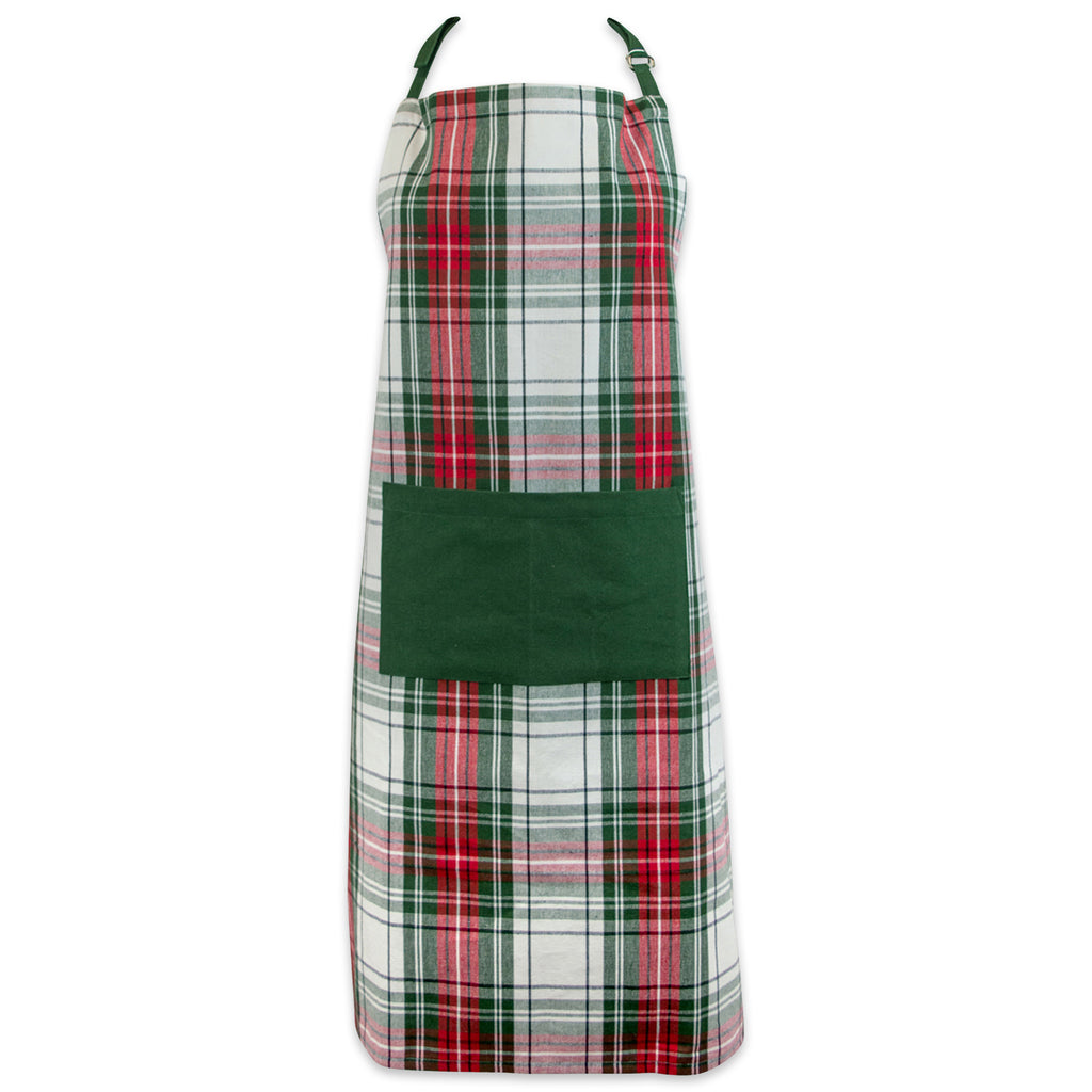 Christmas Plaid Chef Apron