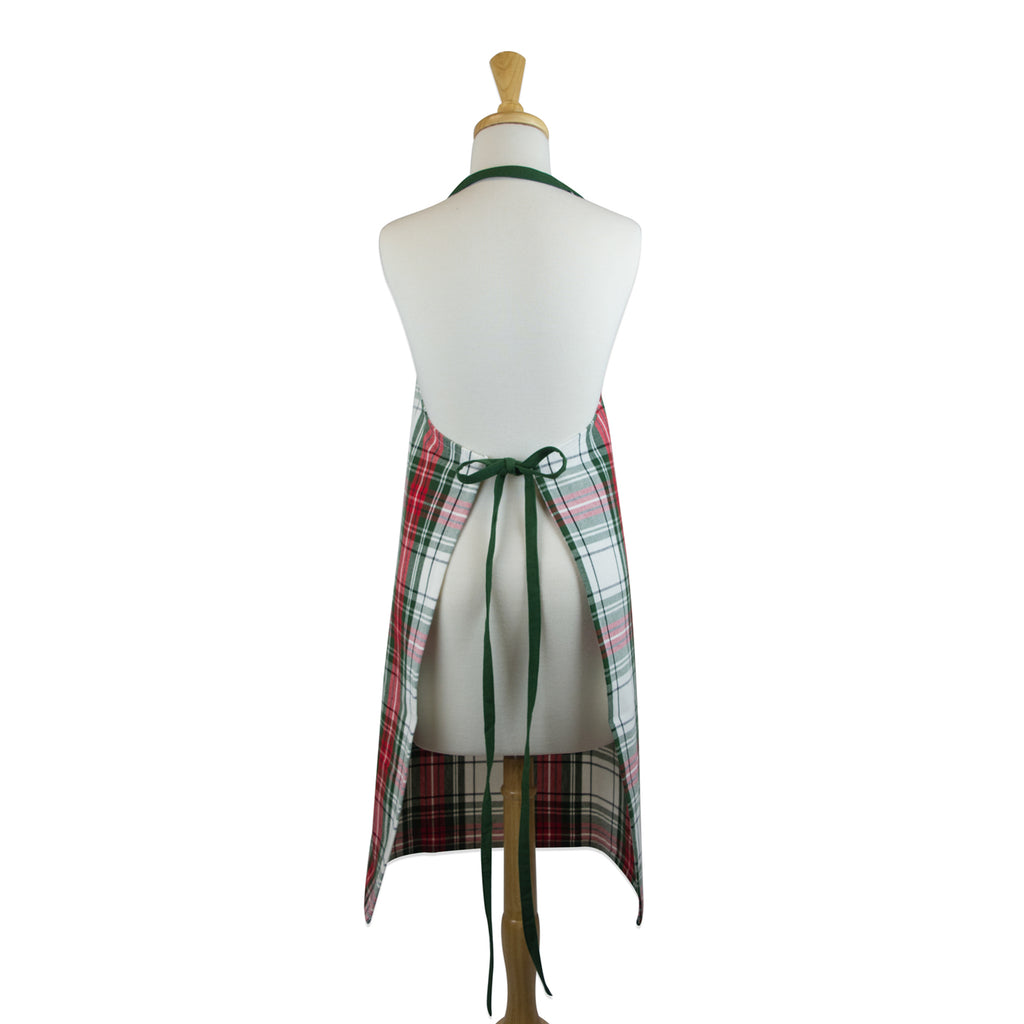DII Christmas Plaid Chef Apron