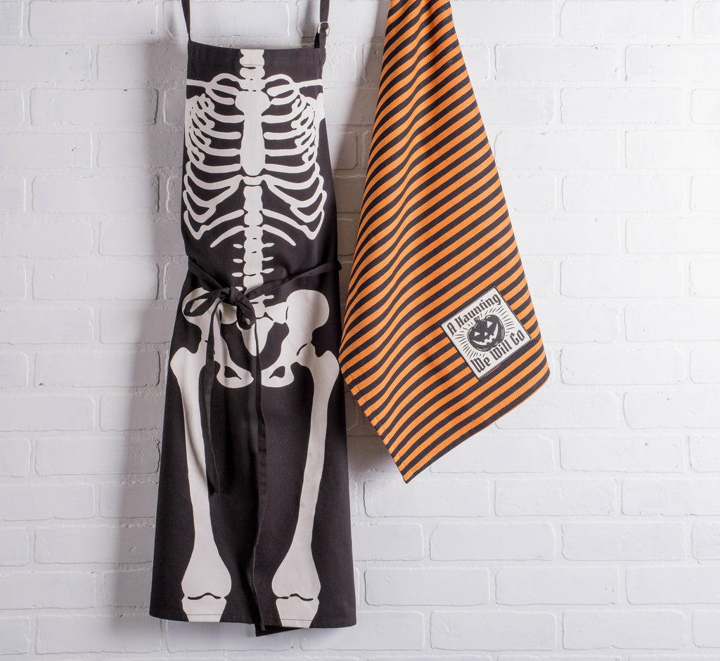 DII Skeleton Print Chef Apron