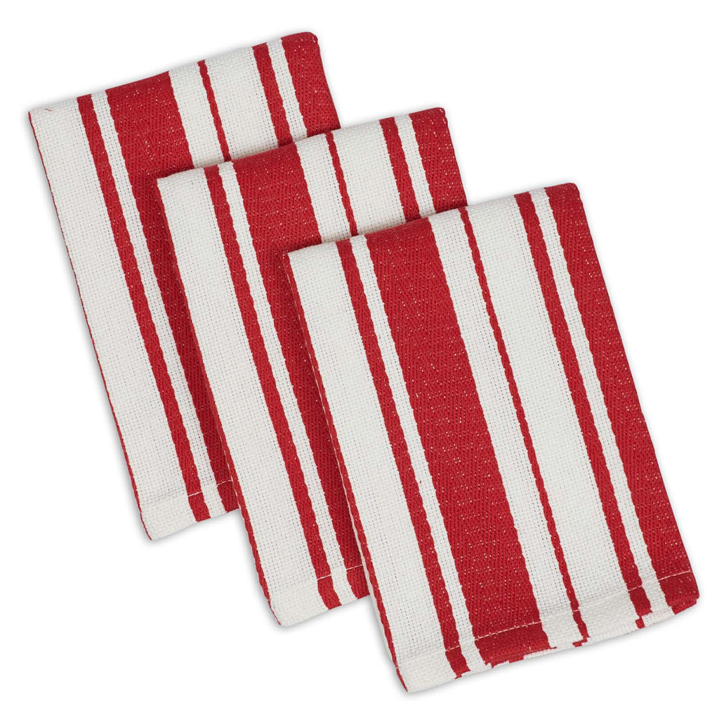Tomato Striped Gourmet Chef Dishcloth Set/3