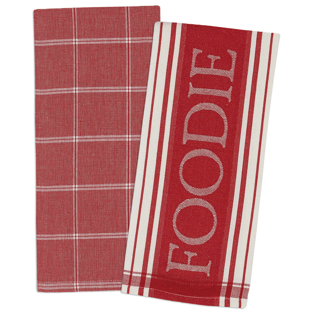 Asst Tomato Gourmet Chef Dishtowel Set/2